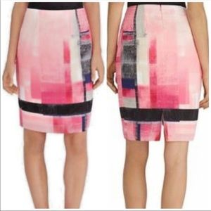 White House Black Market Colorblock Skirt Size 14